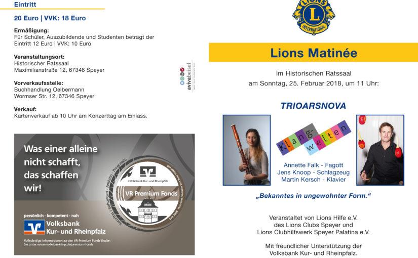 Lions Matinée im Historischen Ratssaal der Stadt Speyer